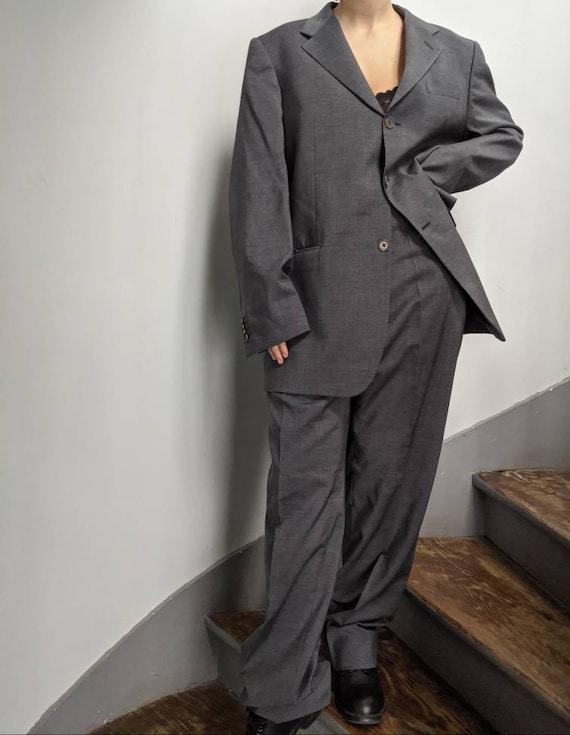 Vintage Gianfranco Ferre Grey Men's Suit Made in I