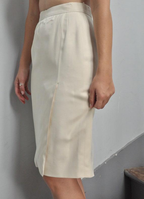 Vintage Valentino beige pencil skirt high waist