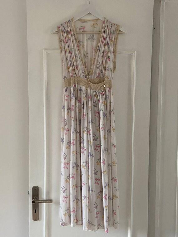 Vintage 40s floral gown