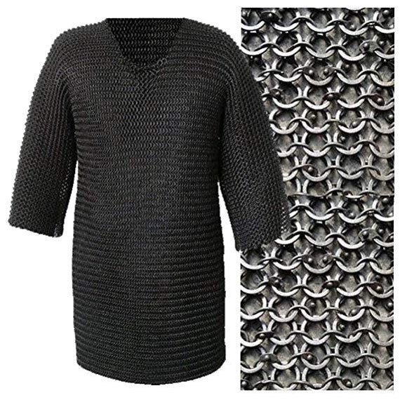 Ms Utted Chainmail Shirt Female Chain Mail Armor Haubergeon Medieval Armour