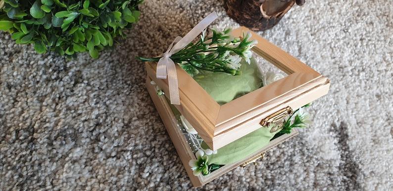 Ring holder wedding ring pillow money gift ring box wooden box vintage wooden ring box groomswoman bridesmaid