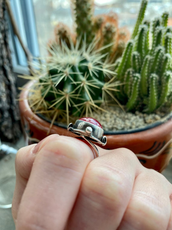 Vintage Ruby & 925 sterling silver ring - image 6