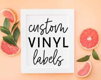 Custom Vinyl Labels | Adhesive Vinyl