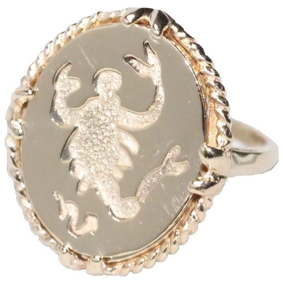 14K Yellow Gold Scorpio Horoscope Ring