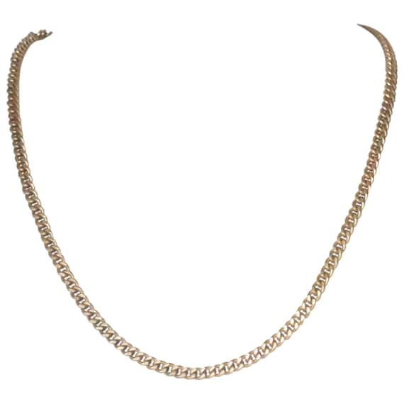 Vintage 12K Gold Fill Solid Cuban Link Necklace