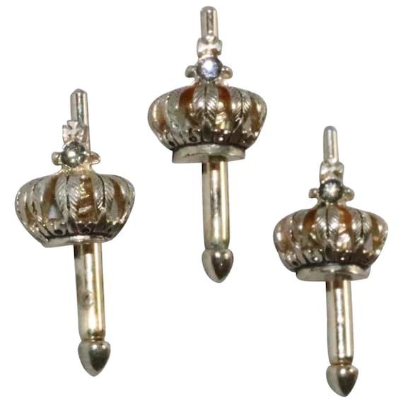 Vintage Crown Cuff Links