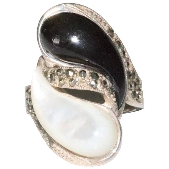 Sterling Silver Tear Drop Mother Of Pearl Onyx Mar