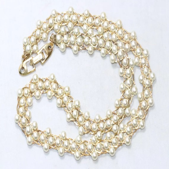 Vintage Napier Costume Synthetic Pearl Beaded Nec… - image 2