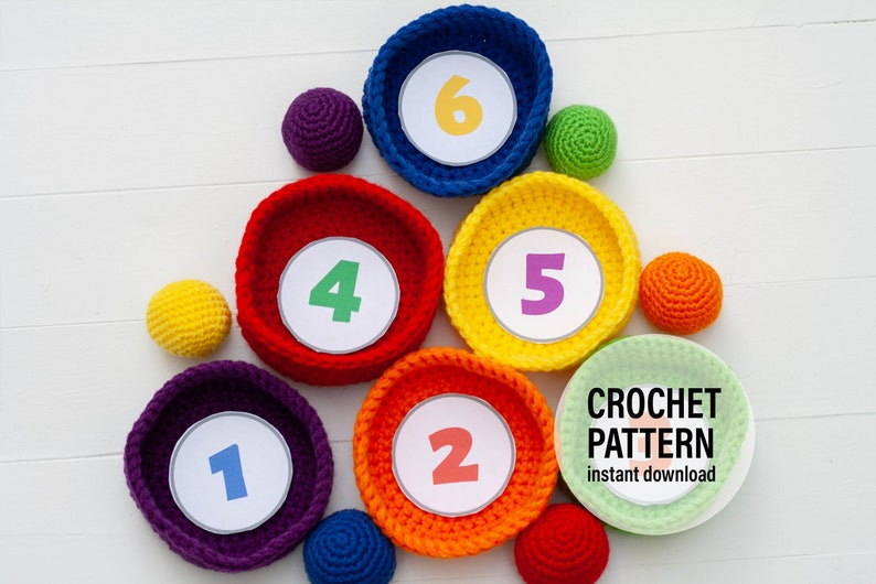 CROCHET PATTERN X Quick and Easy Educational Crochet Toys image 0