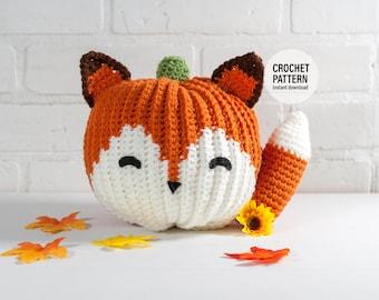 CROCHET PATTERN x Crochet Fox Pumpkin, Instant PDF Download,