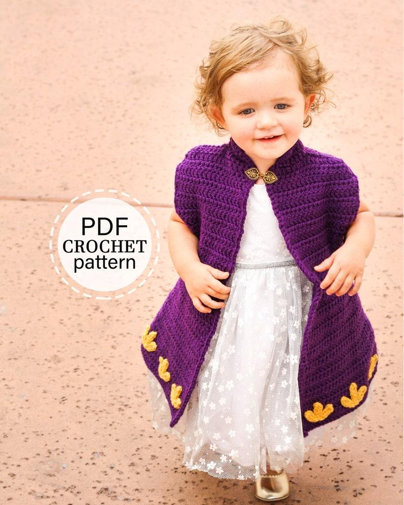 Crochet Princess Cape Pattern Crochet Cape Coat Pattern for image 0