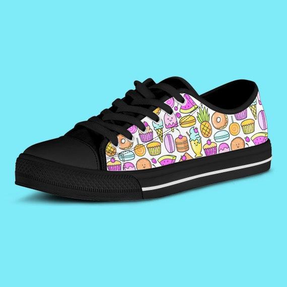 Kawaii Desserts Low Top Canvas Sneaker