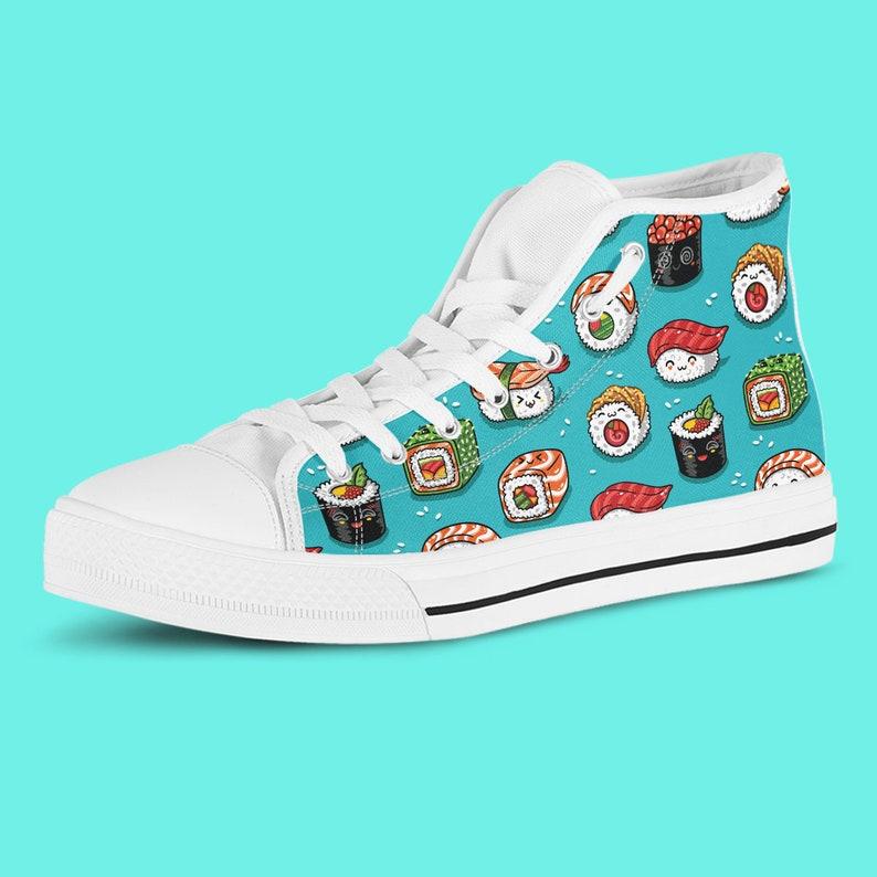 Cute The Kawaii Sushi Light High Sneaker,Kawaii Grunge Otaku Girls Anime Teen Alternative Girl