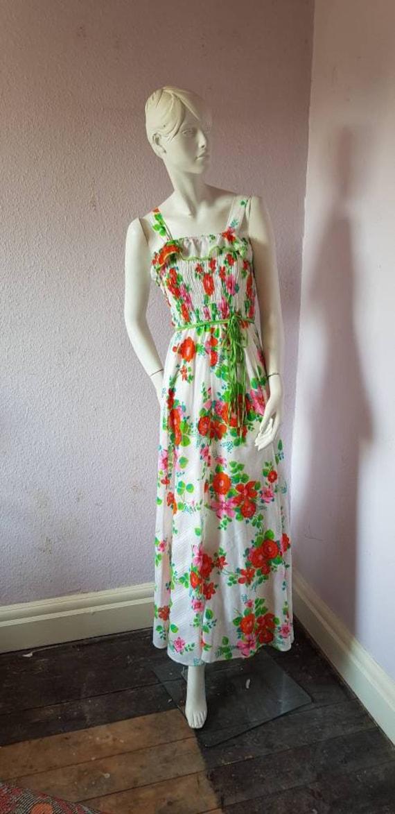Vintage 1970s dress - stunning stripy maxi dress … - image 2