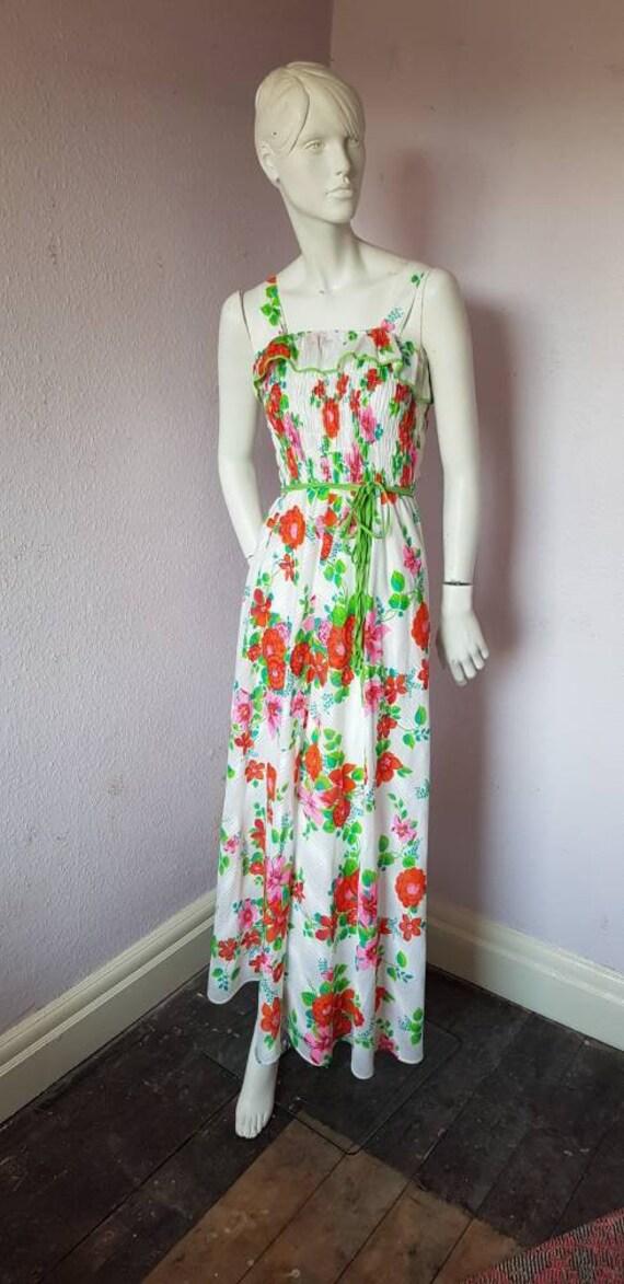 Vintage 1970s dress - stunning stripy maxi dress … - image 4
