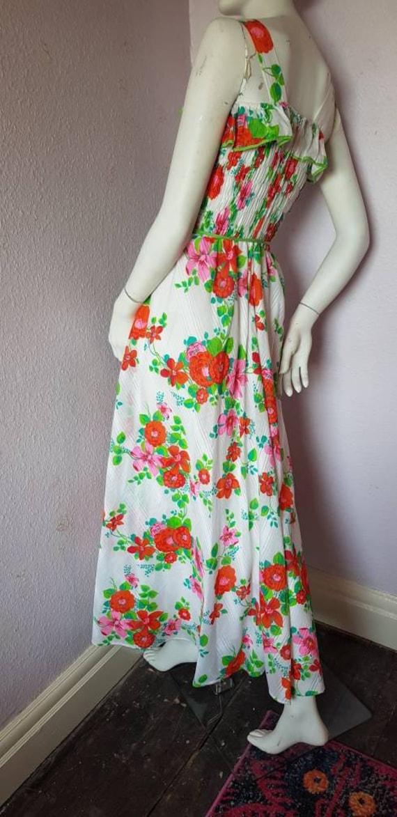 Vintage 1970s dress - stunning stripy maxi dress … - image 1
