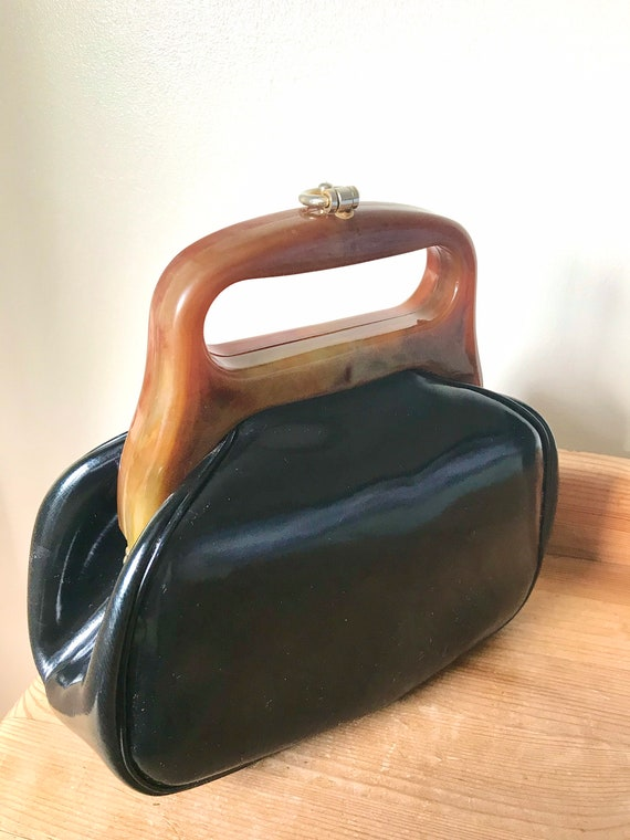 Vintage 1950s Vinyl Lucite Bag