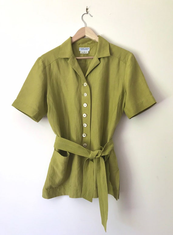 Vintage Jaeger Boxy Blouse/Jacket with Removable … - image 5