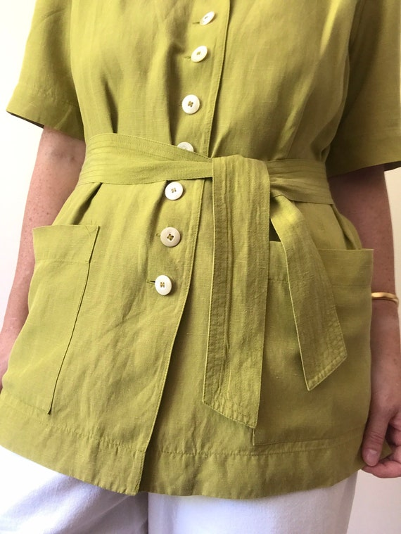 Vintage Jaeger Boxy Blouse/Jacket with Removable … - image 2