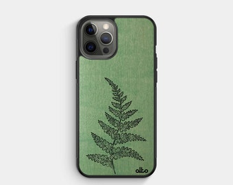 FERN - Real Wood iPhone Case - iPhone 13, 12, 11, XR - Samsung Galaxy S21, 20FE - Google Pixel 5, 4a - Made in Canada by Alto Collective