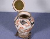 9 quot Antique Japanese Imari Lidded Urn Ginger Jar Bronze Fittings 1700 39 s