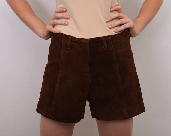 Women's S Genuine Suede Leather Shorts Western Bro