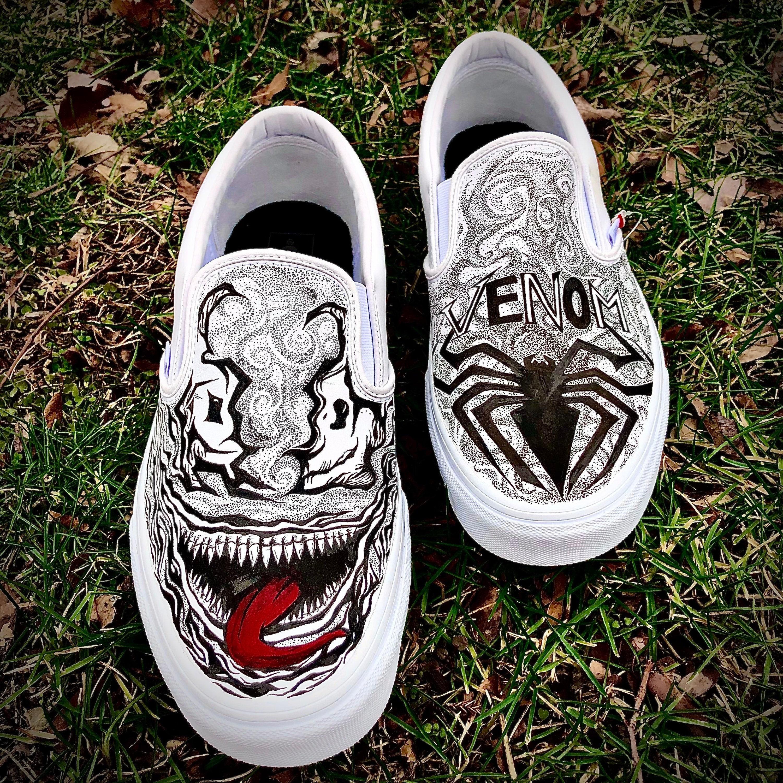 Custom Marvel Venom Vans