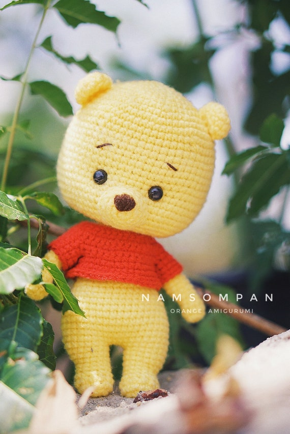 How To Crochet - Easy Simple Winnie the Pooh Amigurumi - YouTube | 853x570
