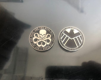 Marvel Agents of S.H.E.I.L.D / Hydra Silver Coin Champions LCG