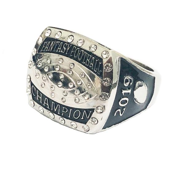 2019 Fantasy Football Championship Silver Rings With Box
