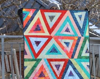 Baby Quilt - Zany Triangles