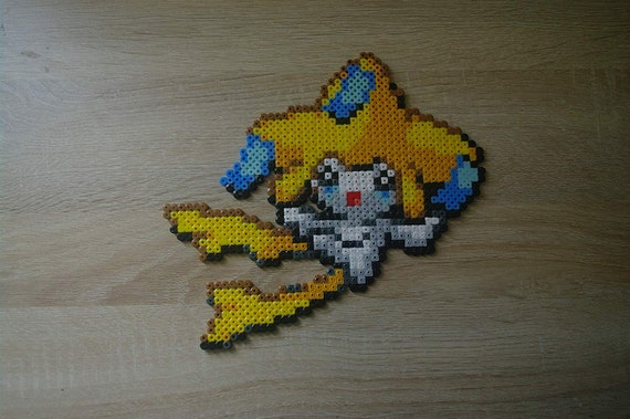 Wall Decoration Jirachi Sprite From The Pokemon Video Game Subject Characters In Ironing Beads Or Pixel Art