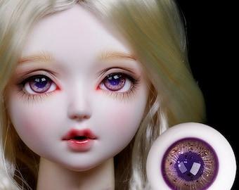 BJD Eyes 10 mm  5 mm  purple sclera dark purple Evangelion isnpired alien fantasy