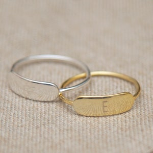 Wedding Birthday Christmas Gift Custom Word Stacking Ring Gold Skinny Personalized Name Ring Stackable Rings in Sterling Silver