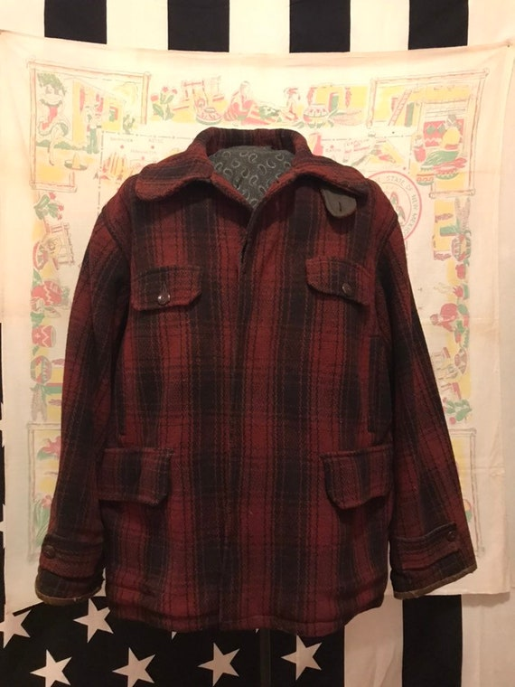 Vtg 30s/40s Duxbak Plaid Mackinaw 48