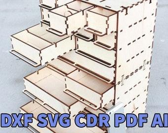 Laser cut vector organizer pattern wood projects plans cnc