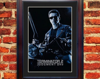 Terminator 2: Judgement Day Silver ***SPECIAL EDITION*** Framed Movie Poster