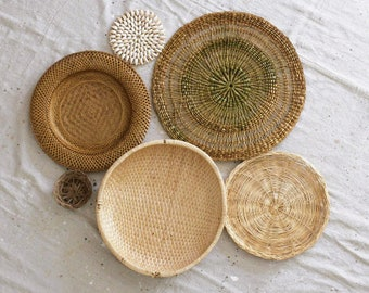 Woven Wall Baskets Etsy