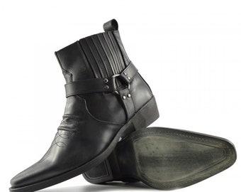 ce3548429ef Cuban heel boots | Etsy