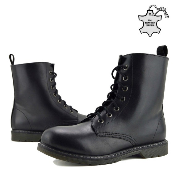 Mens Combat Boots Ankle Retro Funky