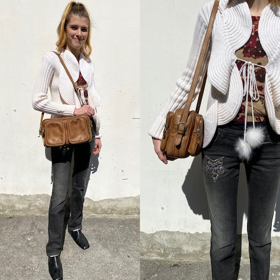 70s Gucci Vintage authentic Crossbag/Brown leathe… - image 10