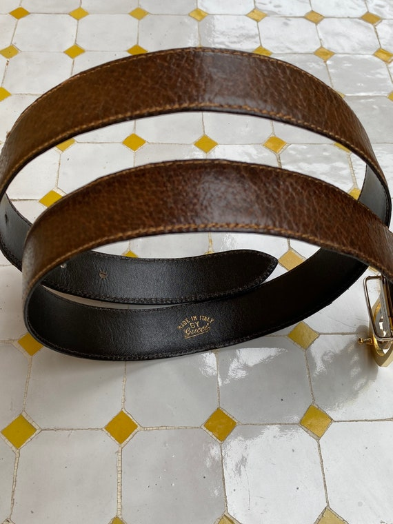 Gucci 60s/Brown leather belt Gucci/Vintage Gucci b