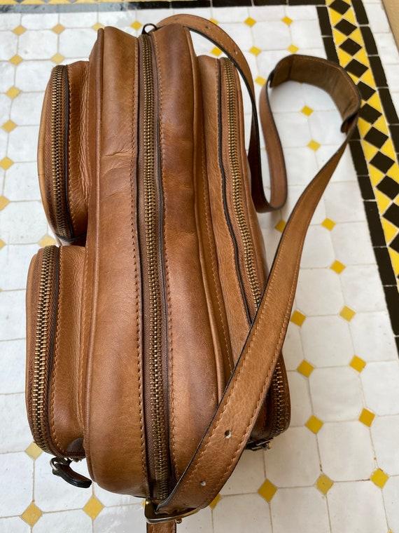 70s Gucci Vintage authentic Crossbag/Brown leathe… - image 5