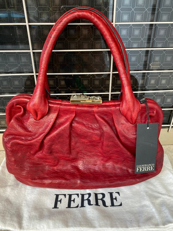 Shoulder bag Ferre/Vintage bag Gianfranco Ferre N… - image 1