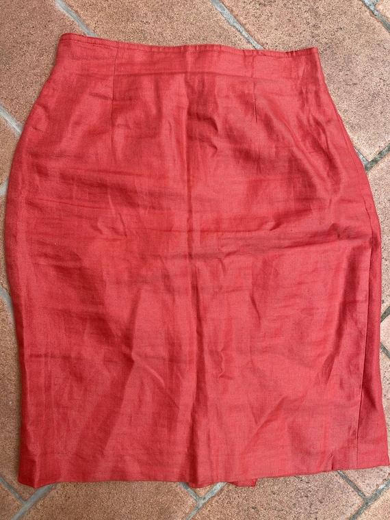 max Mara/Linen skirt Max Mara vintage/Gonna Max Ma