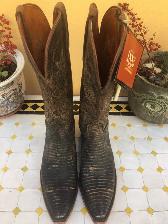COWBOY BOOTS 80s/Brown boots cowboy/Stivali cowboy
