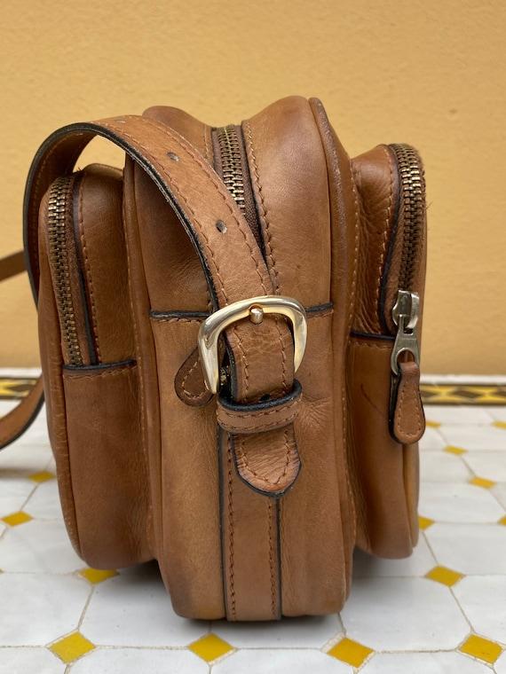 70s Gucci Vintage authentic Crossbag/Brown leathe… - image 1