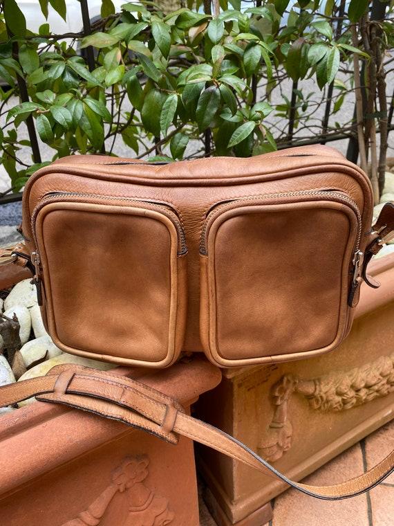 70s Gucci Vintage authentic Crossbag/Brown leathe… - image 2