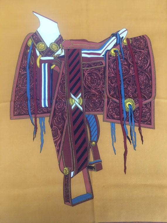 Gucci silk scarf/Scarf Gucci vintage/Vintage 60 sc