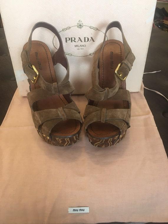 Sandals Miu Miu/ Miu Miu designer sandals/ Leathe… - image 5
